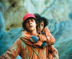 """No one cares about Hector Zeroni."" ""I do.""  Holes, 2003. Directed by Andrew Davis.  when someone says they dont like holes , im always a bit suspicious of them from that point after"