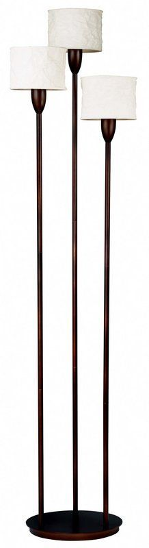 Kenroy home 20391nr santiago floor lamp natural reed lighting kenroy home 30673 crush 3 light torchiere floor lamp oil rubbed bronze lamps floor lamps aloadofball Images
