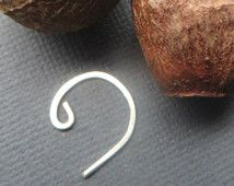 Men's Coil Earring, Sterling Silver Spiral, Wire Spiral Single Earring