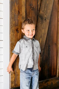 Lightweight button up shirt for your handsome boy Family Picture Outfits, Grey Shirt, Handsome Boys, Family Pictures, Spring Summer Fashion, Dress To Impress, Button Up Shirts, Summer Outfits, Hipster