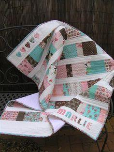 Thimbelina: Upsized Charm Square baby Quilt instructions