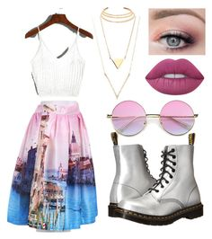 Untitled #36 by grace-annee on Polyvore featuring polyvore, fashion, style, Dr. Martens, Kenneth Jay Lane, Lime Crime and clothing