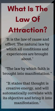 "The law of attraction ""is the most certain way for you to secure what you require for your most complete development.�"