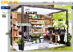 Love this IKEA dyning canopy and outdoor area!! (Click on tiny image at top left when the page opens.)