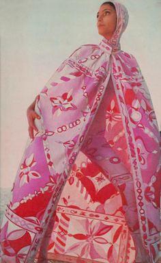 Benedetta Barzini in Pucci 1960's