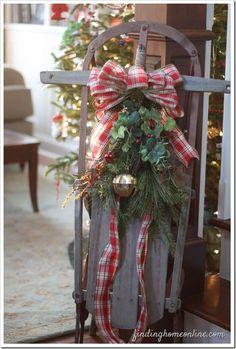 Vintage Christmas Sled decor