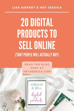 So, let's talk about what types of digital products you should consider selling! I have a list of 20 digital products that people are actively looking for and want that you could possibly provide. Content Marketing Strategy, Small Business Marketing, Business Tips, Online Business, Affiliate Marketing, Online Marketing, Digital Marketing, What To Sell Online, Making Money On Etsy