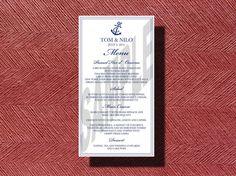 #NEW #DESIGN #Nautical #Wedding #Menu, #AnchorMenu by WeddingsByJamie