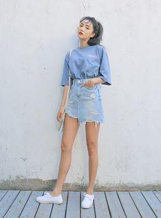 Korea Summer Fashion, Korean Fashion Teen, Korean Fashion Winter, Ulzzang Fashion, Korean Street Fashion, Korea Fashion, Asian Fashion, Style Fashion, Fashion Clothes