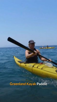 Learn about the features of this paddle and how it can add more to your kayaking adventure. Greenland Paddle, Vikings Time, Recreational Kayak, Kayak Paddle, Kayak Adventures, Ice Fishing, Small Boats, Good Grips, Canoe