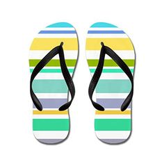 Nyou Colroful Stripes Lightweight Unisex Flip Flops Flat Sandals Available in Various Colors and Sizes *** Find out more about the great product at the image link. Flip Flops Damen, Womens Flip Flops, Partner, Flat Sandals, Stripes, Unisex, Shoes, Image Link, Colors