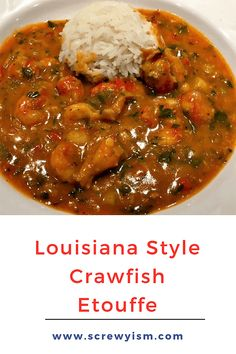 cajun and creole recipes Louisiana Style Crawfish touffe is a rich flavorful stew traditionally served over rice. Flavored with sweet crawfish tails, onion, garlic, celery, red Crawfish Etoufee Recipe, Crawfish Recipes, Crawfish Etouffee, Cajun Recipes, Seafood Recipes, Cooking Recipes, Haitian Recipes, Donut Recipes, New Orleans Etouffee Recipe