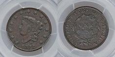 Rare 1822 Matron Head Liberty Head Large Cent PCGS Graded XF40