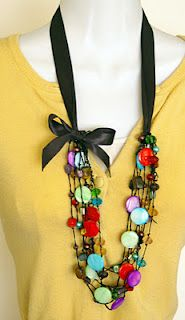 DIY Ribbon Necklace ~~ Great pictures of HOW TO!