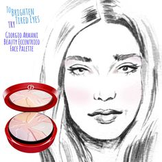 Makeup 101: A Highlighting and Contouring Cheat Sheet | This highlighting trick is key when you're bleary-eyed and overtired.