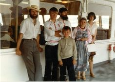 John Hudanish and his wife Elisabeth on the ferry in BC with Aleksei Revtov, Silvester Valikhov, Stepan Valikhov and Olga Valikhov. Two ROCOR Bishops and the Russian Old Believers in Oregon