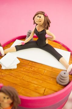 Close Up of female fitness Figurine