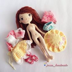 59 ideas sewing toys for girls knitting patterns Tutorial Amigurumi, Doll Amigurumi Free Pattern, Crochet Doll Pattern, Amigurumi Doll, Crochet Doll Dress, Crochet Doll Clothes, Knitted Dolls, Sewing Patterns Girls, Doll Patterns