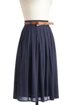 """Swing skirt - the only thing I would change is to take the """"bow"""" off the belt."""