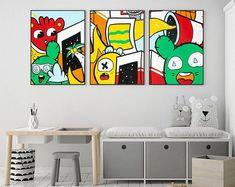 Original Painting Modern Art For Sale, Modern Pop Art, Modern Kitchen Wall Decor, Office Wall Decor, Dorm Art, Artwork For Living Room, Graffiti Wall Art, Colorful Wall Art, Extra Large Wall Art