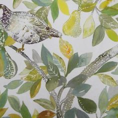 Partridge - Spring Cream fabric, from the Country Florals collection by Voyage