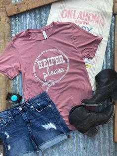 New! Heifer Please, Western graphic tee, Western tee, Cow tee, cow graphic tee