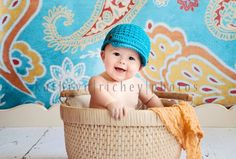 Baby Boy, Newsboy Hat, Crochet Baby Hats, Custom Color, Photo Prop, Photography Prop, MADE TO ORDER. $20.00, via Etsy.