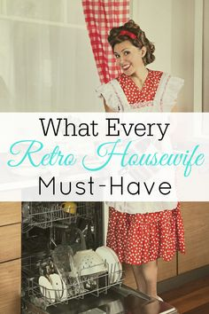 Retro Housewife Must-Haves - Home Cleaning Schedule 1950s Housewife, Vintage Housewife, Happy Wife Quotes, Hope Quotes, Friend Quotes, Smile Quotes, Quotes Quotes, Clean House Schedule, Living Vintage