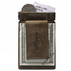 Luxury Mens Leather Magic Wallet Money Clip Card Holder ID Cash Purse