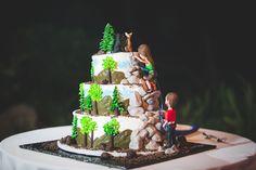 cool rock climbing wedding cake