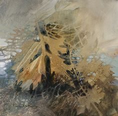 Pin Oak First Frost, negative painting, Linda Kemp
