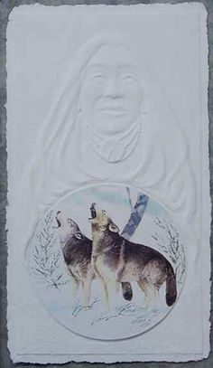 Mother of the Cherokee Wolf Clan from which many Cherokee warriors came by by John Guthrie Studios.