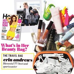 Health Magazine took a peek in Erin Andrews handbag - and look what they found! Whoopie for Whoopie hand cream!