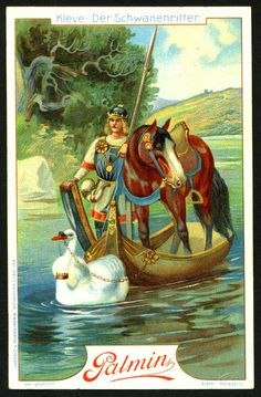 """Palmin's Margarine """"Rhine Stories"""" c1910. Kleve and the Knight of the Swan"""
