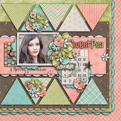 Sweet pea layout by Tinci using Sweet Pea and Me Dig-ETTE-al Kit
