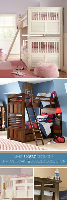 Twice the sleeping space shouldn't mean half the style, and here at Rooms To Go it certainly doesn't. Our selection of bunk beds for kids includes striking designs appealing to classic and contemporary tastes alike.