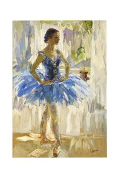 Ballerine - Lira Tsykanova Perfect in a little ballerina's room Ballerina Art, Ballet Art, Ballet Dancers, Ballet Painting, Painting & Drawing, Dance Paintings, Indian Paintings, Painting Lessons, Oil Paintings