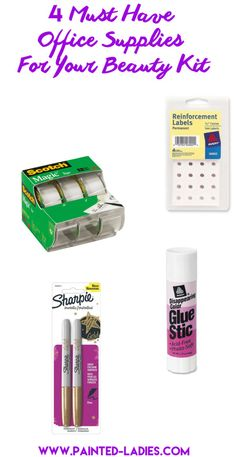4 Must Have Office Supplies For Your Beauty Kit