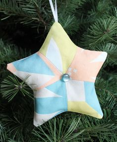 Quiltish by Allisa Jacobs: Sewing Social Meet Up - Pretty Projects Christmas Ornament Star made with Allisa Jacobs textile designs, tutorial coming soon!