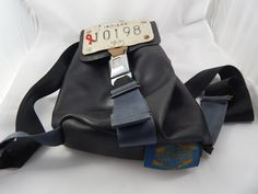Vintage Recycled Rubber Backpack by AlwaysPlanBVintage on Etsy