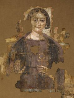 Woman's shroud  Coptic, Roman Egypt. 4th century AD.  From the Louvre