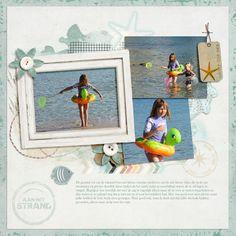 On the beach - Scrapbook.com