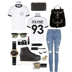 Payne Shirt by sam-isabella on Polyvore featuring Topshop, Jeffrey Campbell, ASOS, Irene Neuwirth, MARC BY MARC JACOBS, Zara, Ray-Ban, NARS Cosmetics, shu uemura and Bobbi Brown Cosmetics