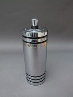 Gaiety Cocktail Shaker by Chase  This same cocktail shaker can be found in the Chase 1933 catalogue. Stamped Chase to the base. Unfortunately this one is only good for display as it has a couple of small dents and has been well used inside. Pinned by www.silver-and-grey.com