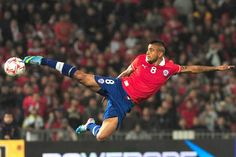 Chile's Arturo Vidal kicks the ball during their FIFA World Cup Brazil 2014 South American qualifier football match against Bolivia at the Nacional stadium in Santiago, Chile,on June PHOTO/CLAUDIO SANTANA Football Tournament, Football Players, World Cup 2014, Fifa World Cup, Football Match, Football Soccer, Premier League, Sports Celebrities, International Football