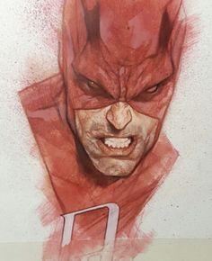 Daredevil by Ben Oliver Marvel Comic Universe, Marvel Comics Art, Fun Comics, Comic Character, Character Design, Mundo Superman, Ben Oliver, Comic Artist, Comic Books Art
