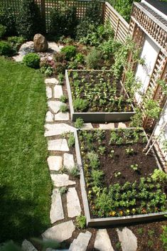 Potager Garden Vegetable boxes incorporated into small yard - Philosophy is the same whether you have a small room or a small garden or balcony . To save space missing … width and length should take advantage of every inch … height. Vegetable Boxes, Backyard Vegetable Gardens, Potager Garden, Outdoor Gardens, Garden Edging, Small Yard Vegetable Garden Ideas, Garden Paths, Vegtable Garden Layout, Cool Garden Ideas