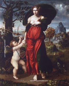 Battista Dossi Venus and Cupid, painting Authorized official website