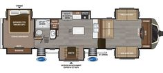 Floorplan image of Keystone Montana model 3731FL.