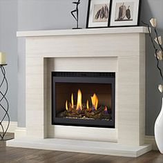 Excellent Pictures Electric Fireplace makeover Strategies Pureglow Drayton Limestone Fireplace Package With Chelsea HE Gas Fire Fireplace Redo, Limestone Fireplace, Small Fireplace, Marble Fireplaces, Modern Fireplace, Fireplace Surrounds, Fireplace Design, Fireplace Mantels, Fireplace Ideas
